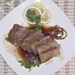 Roast beef di tonno fresco in salsa agrodolce