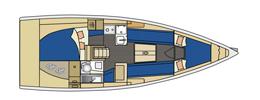 E3 la scheda tecnica della barca for Planimetrie della coperta