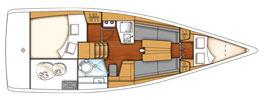 First 30 la scheda tecnica della barca for Open plan planimetrie