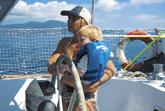 La velista Laura Zolo, al timone con il suo bambino