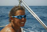 Roberta Di Vaio, skipper napoletana titolare di un'agenzia di charter